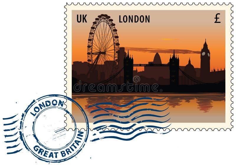 Cachet de la poste de Londres illustration stock