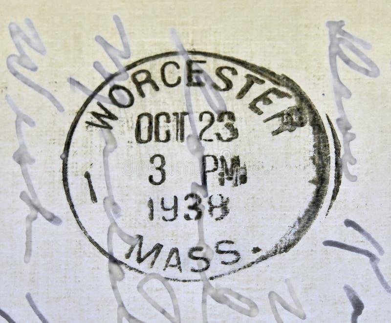 Cachet de la poste de Worcester le Massachusetts photos stock