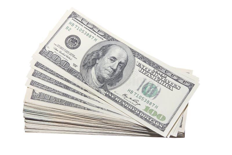Cachette des USA cents devises de billets d'un dollar image stock