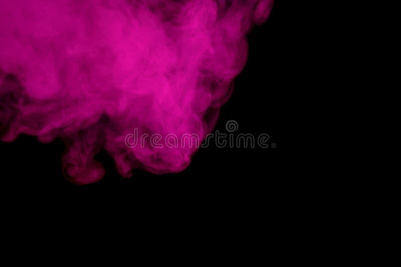 Cachimba púrpura abstracta del humo foto de archivo libre de regalías