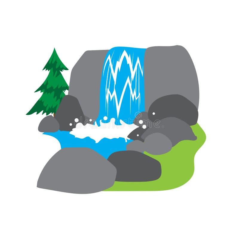 Cachoeira ilustração do vetor