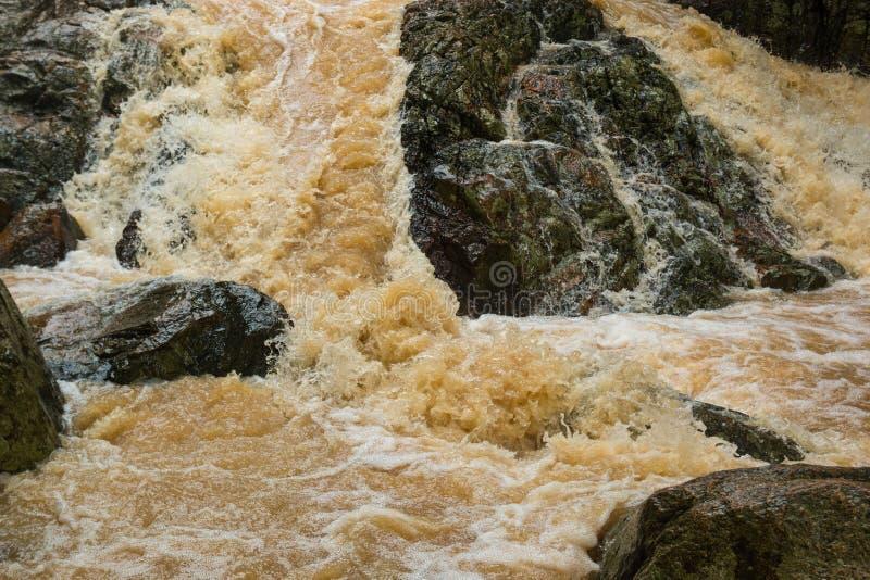 Cachoeira afluente na estação da chuva na ilha Koh Samui, Tailândia imagem de stock royalty free