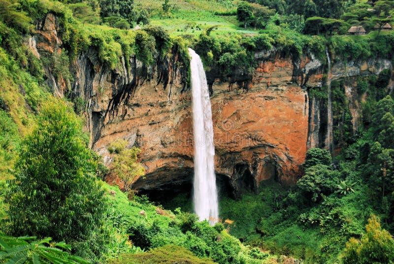 Cachoeira africana fotografia de stock
