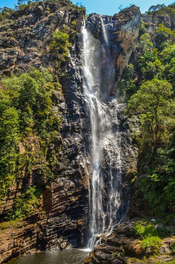 Cachoeira alta em Brasil fotografia de stock royalty free