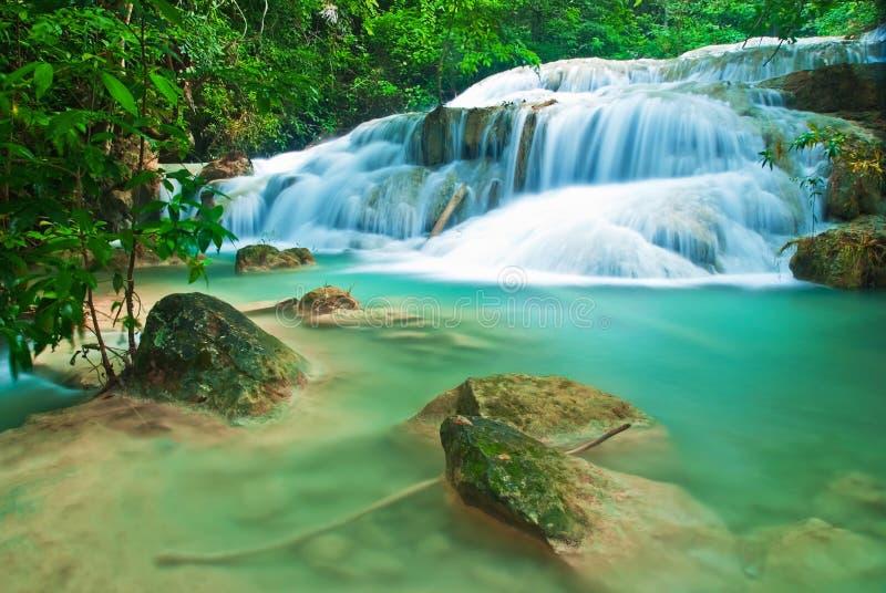 Cachoeira azul do córrego foto de stock