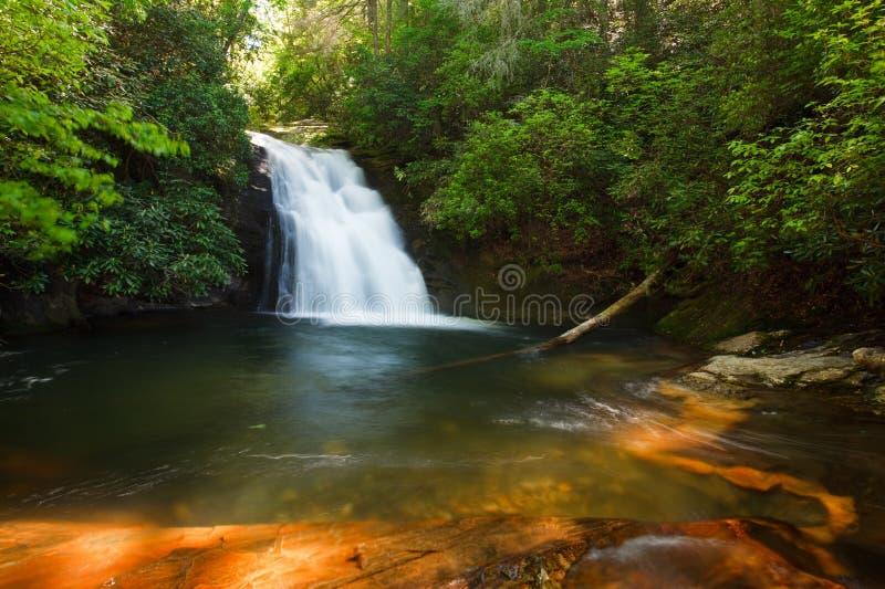 Cachoeira azul do furo foto de stock