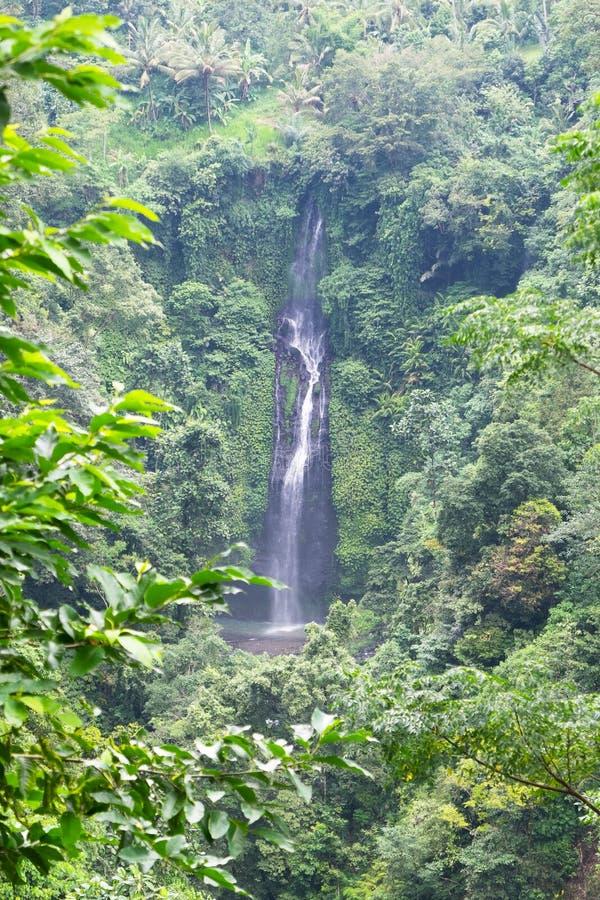 Cachoeira bonita de Sekumpul - Bali, Indonésia fotografia de stock
