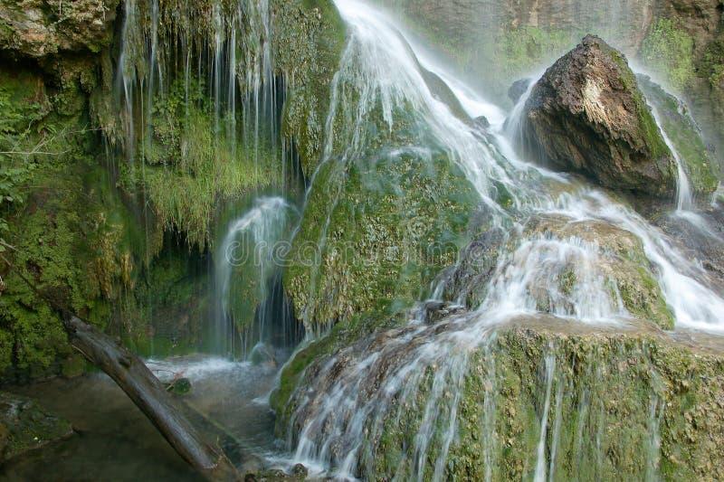 Cachoeira bonita na floresta foto de stock royalty free