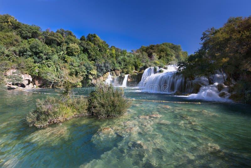 Cachoeira (buk de Skradinski) no parque nacional de Krk, Croácia foto de stock