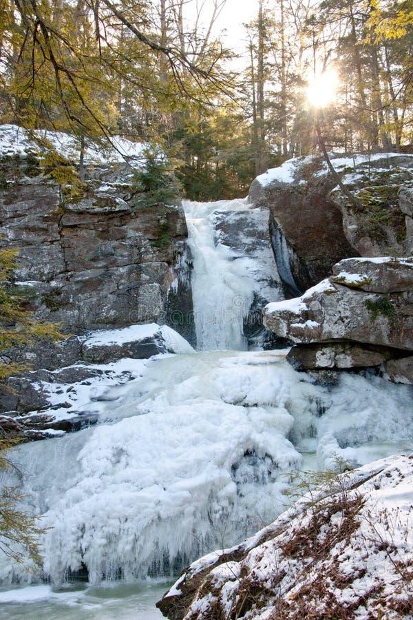 Cachoeira congelada fotografia de stock