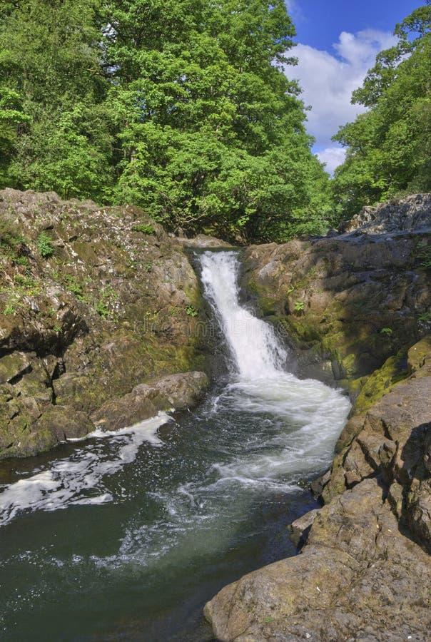 Cachoeira da força de Skelwith imagens de stock royalty free