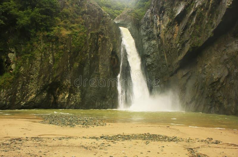 Cachoeira da ONU de Salto Jimenoa, Jarabacoa fotografia de stock royalty free