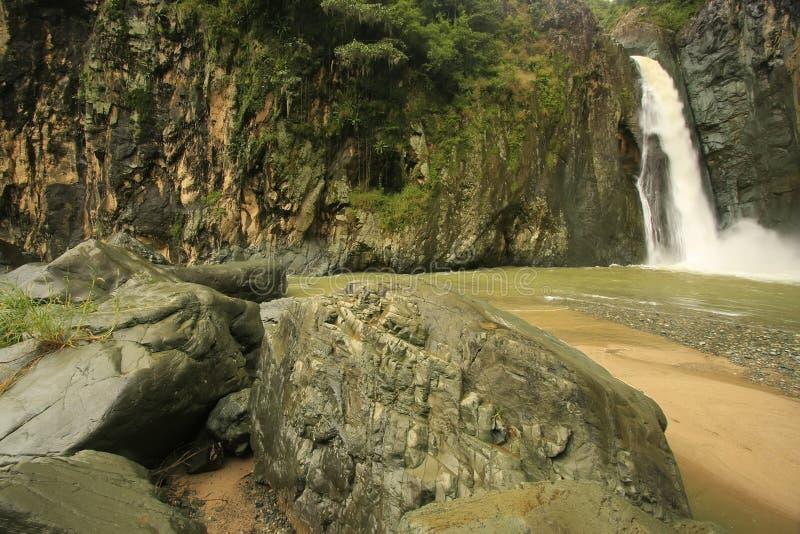 Cachoeira da ONU de Salto Jimenoa, Jarabacoa imagem de stock