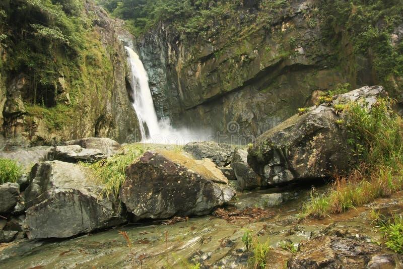 Cachoeira da ONU de Salto Jimenoa, Jarabacoa foto de stock royalty free