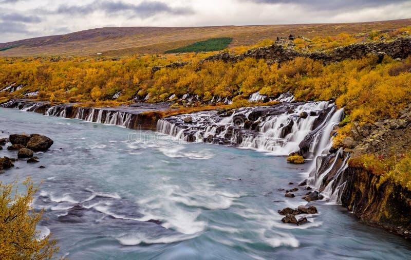 Cachoeira de Barnafoss em Islândia imagens de stock royalty free
