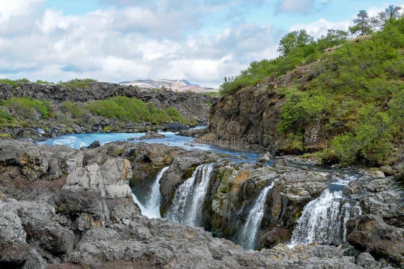 Cachoeira de Barnafoss - Islândia ocidental fotos de stock royalty free