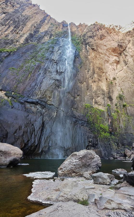 Cachoeira de Bassaseachis foto de stock