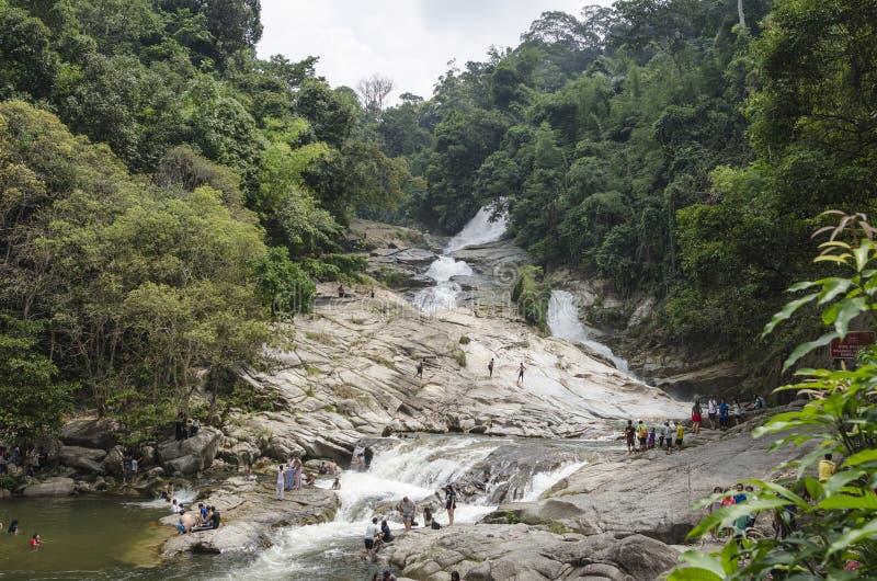 Cachoeira de Chamang, Bentong, Malásia fotografia de stock