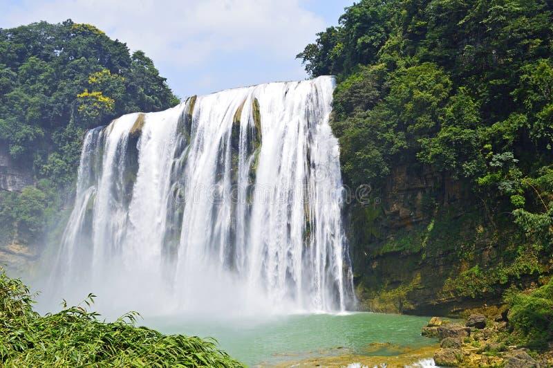 Cachoeira de China Guizhou Anshun Huangguoshu no verão fotografia de stock