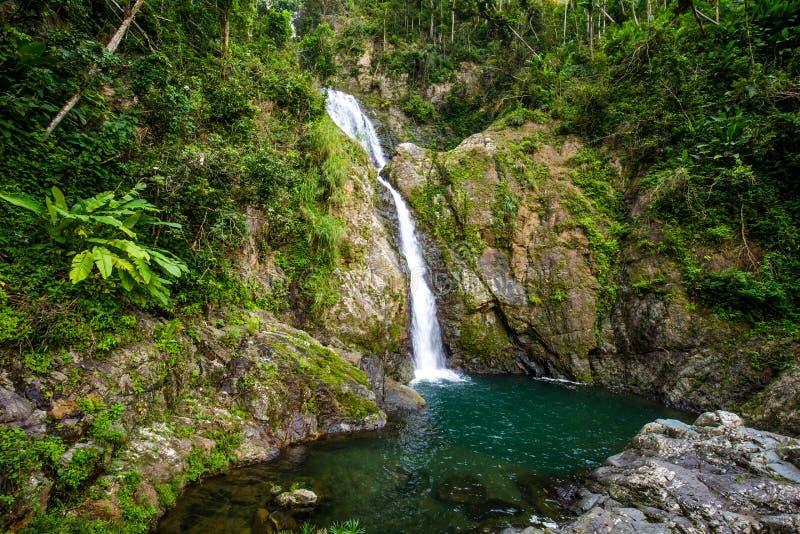 Cachoeira de Chorro de Dona Juana em Porto Rico imagem de stock royalty free