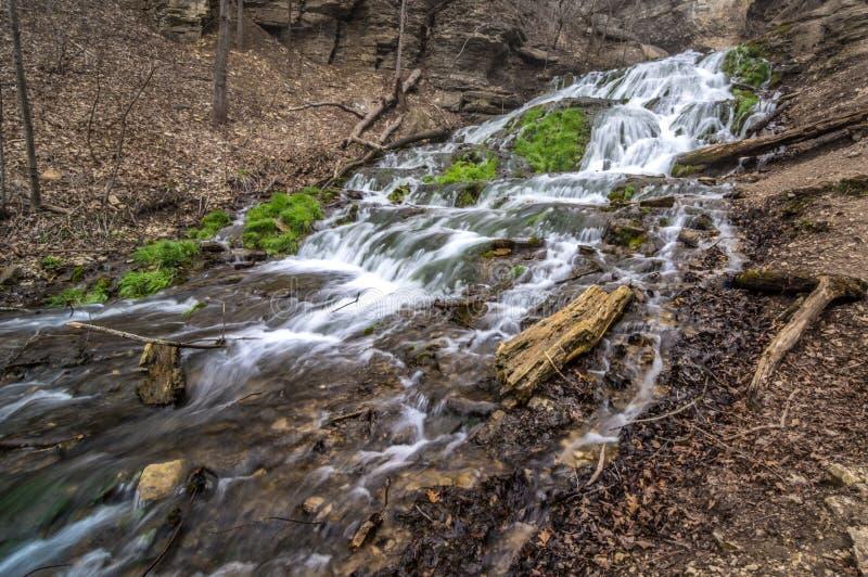 Cachoeira de Decorah Iowa foto de stock royalty free