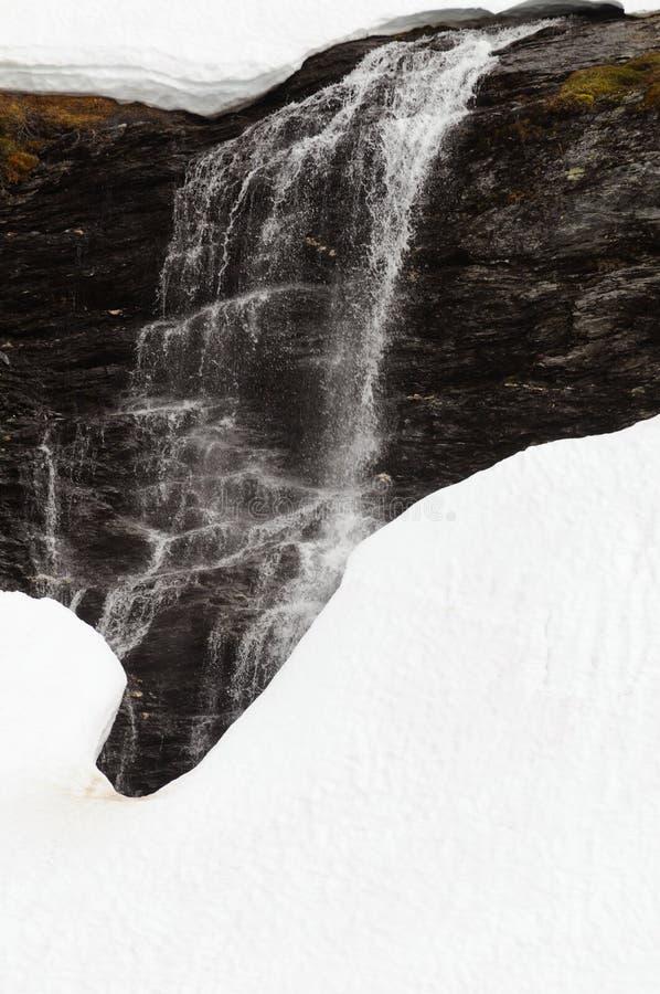 Cachoeira de derretimento da neve imagem de stock royalty free