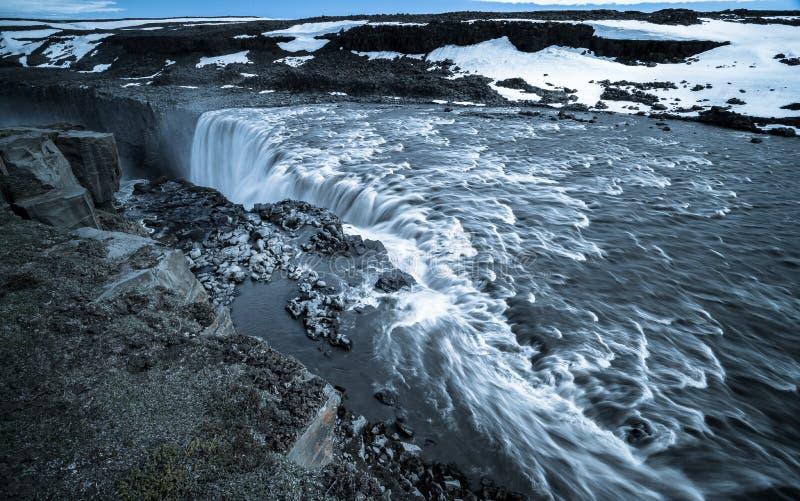 Cachoeira de Dettifoss imagens de stock