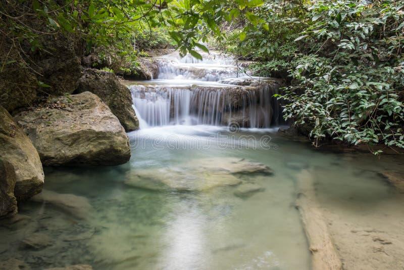 Cachoeira de Erawan imagem de stock