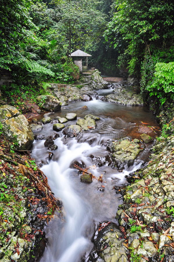 Cachoeira de Gitgit em Bali imagem de stock royalty free