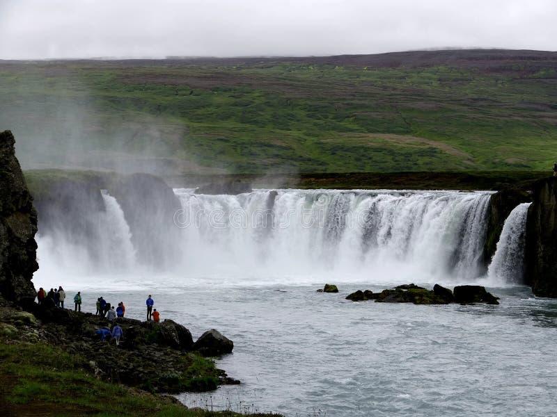 A cachoeira de Goðafoss imagens de stock royalty free