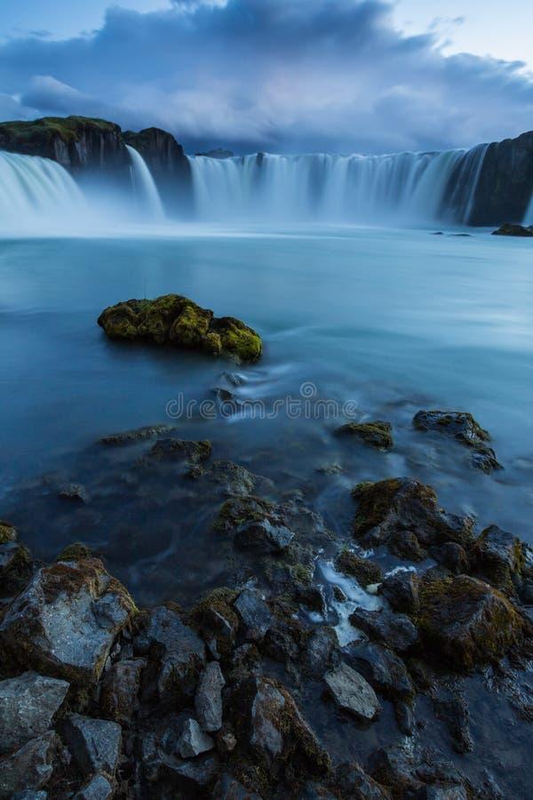 Cachoeira de Godfoss imagem de stock