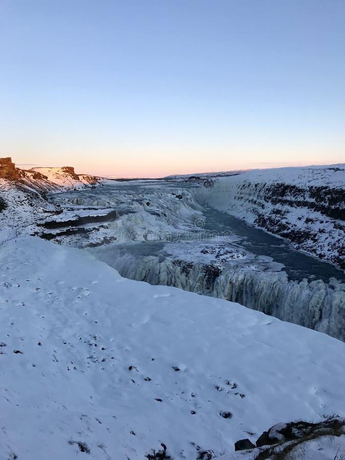 Cachoeira de Gullfoss fotos de stock