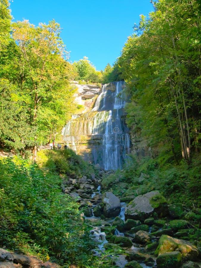 Cachoeira de Herisson, France fotos de stock