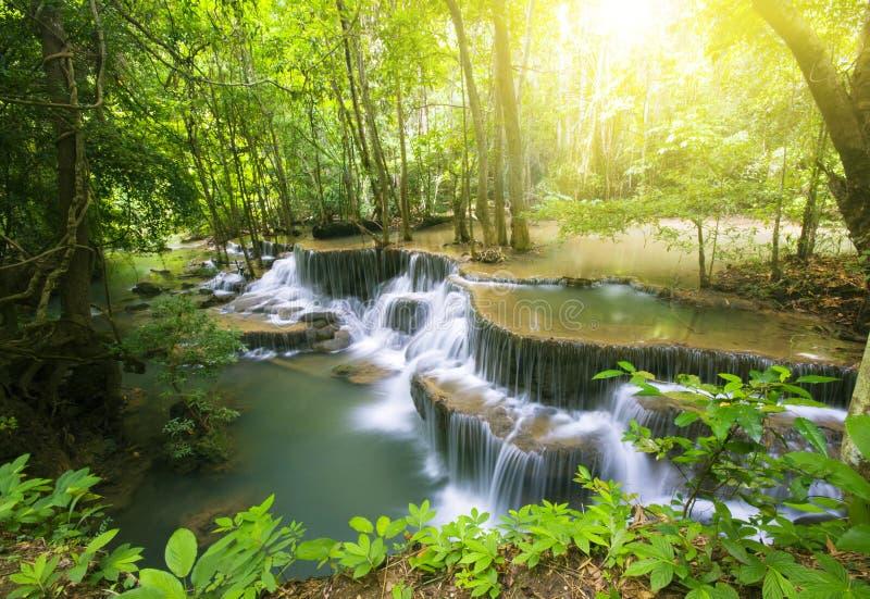 Cachoeira 1 de Huai Mae Kamin imagem de stock royalty free