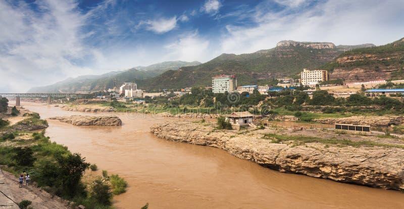 Cachoeira de Hukou do Rio Amarelo fotos de stock