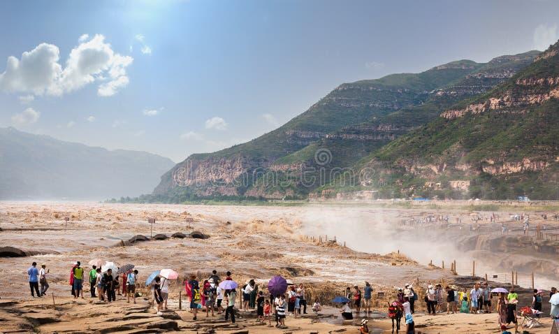 Cachoeira de Hukou do Rio Amarelo foto de stock royalty free