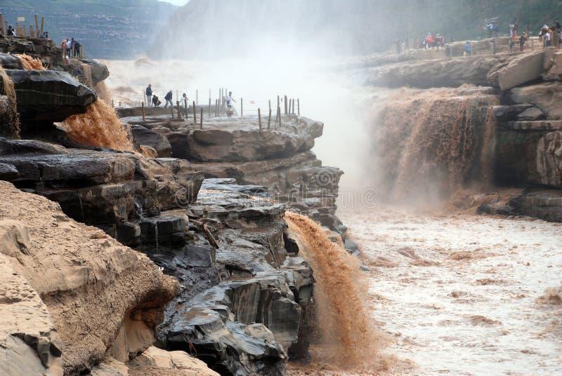 Cachoeira de Hukou do Rio Amarelo imagem de stock royalty free