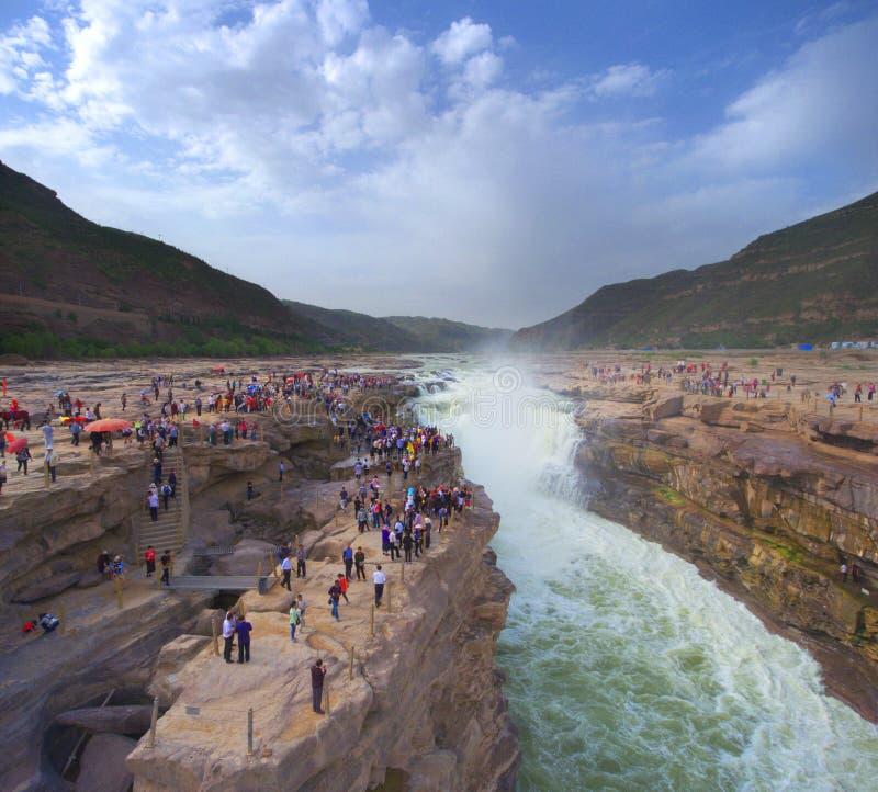 Cachoeira de Hukou do Rio Amarelo imagem de stock