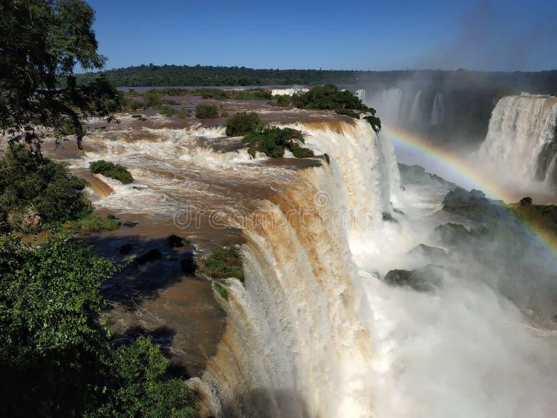 Cachoeira de Iguazu do lado brasileiro fotos de stock