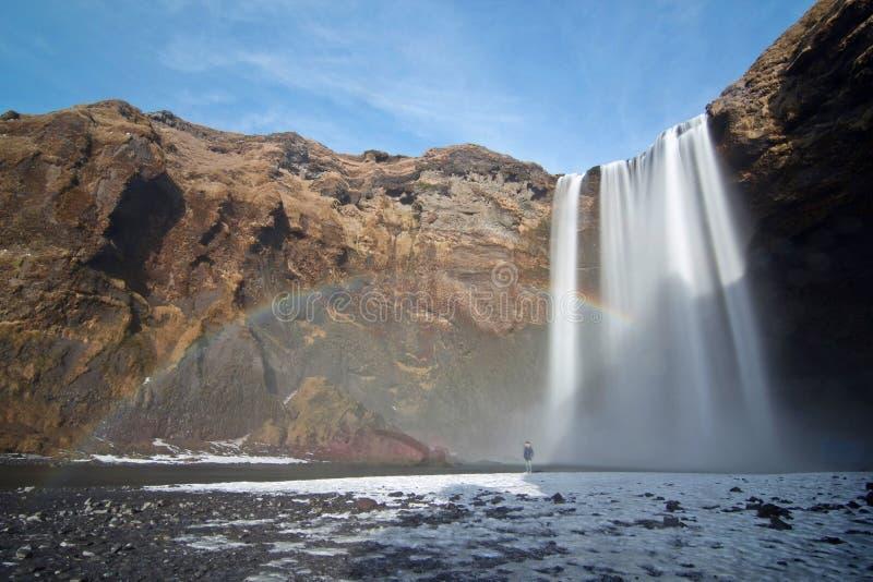 Cachoeira de Islândia imagens de stock