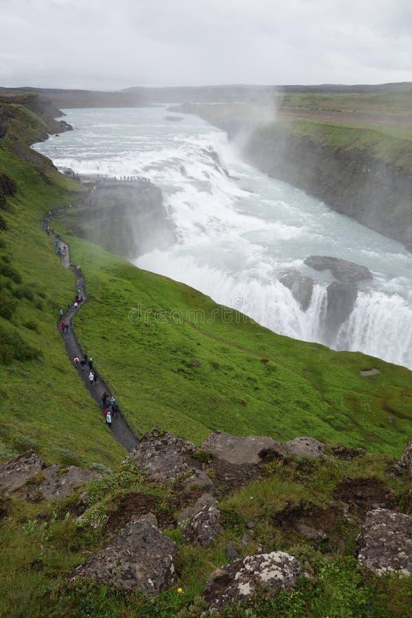Cachoeira de Islândia Gullfoss fotos de stock royalty free