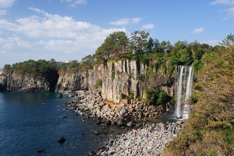 Cachoeira de Jeongbang foto de stock royalty free