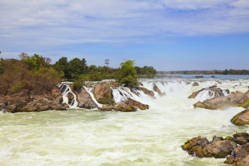 Cachoeira de Khone Phapheng fotografia de stock royalty free