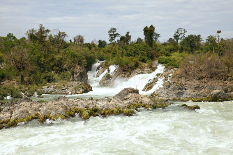 Cachoeira de Khone Phapheng fotos de stock