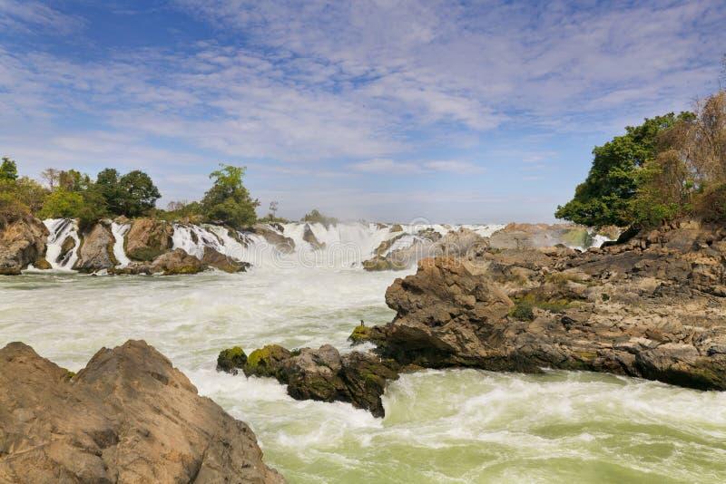 Cachoeira de Khone Phapheng imagem de stock royalty free