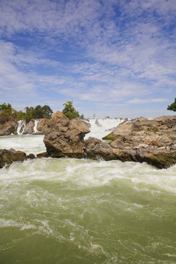 Cachoeira de Khone Phapheng foto de stock royalty free