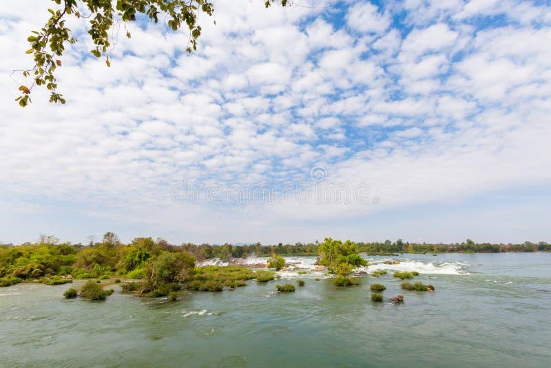 Cachoeira de Khone Phapheng em Laos fotos de stock royalty free