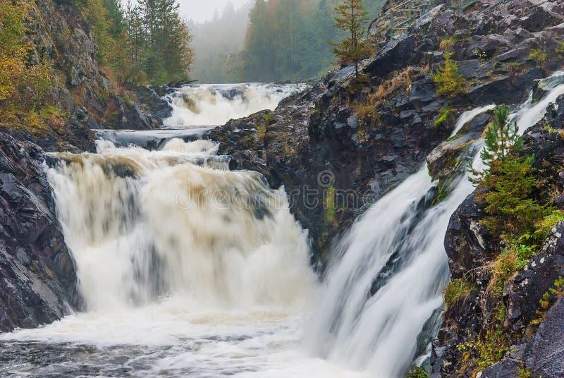 Cachoeira de Kivach em Car?lia, R?ssia imagem de stock royalty free