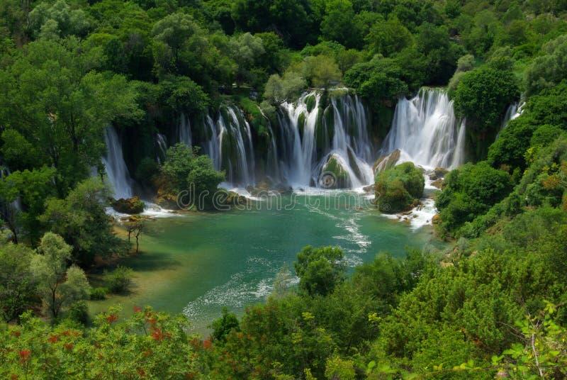 Cachoeira de Kravica fotografia de stock