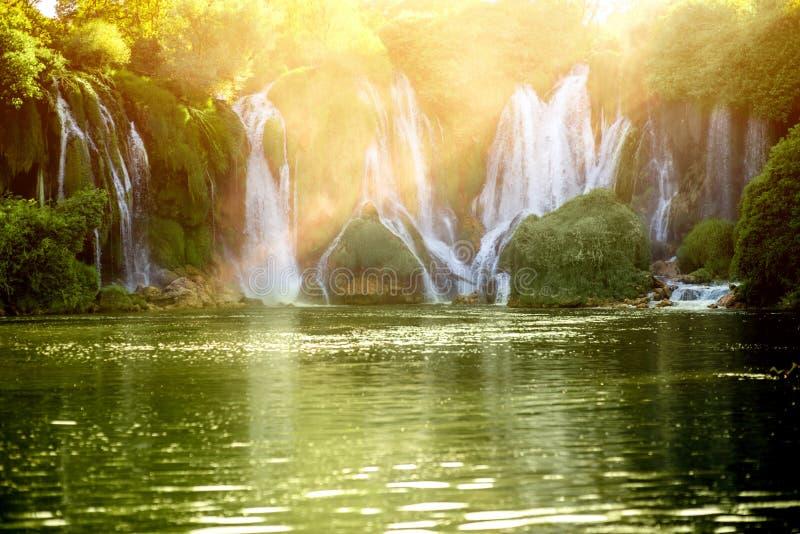 Cachoeira de Kravica imagens de stock